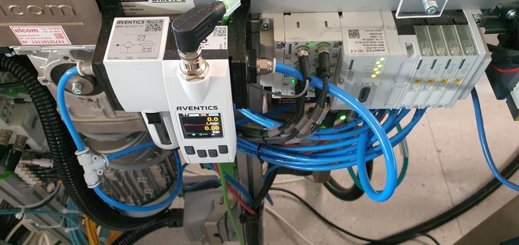 Abbildung der zentralen Sensorik und Ansteuerungseinheit der Druckluftzylinder